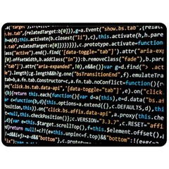 Close Up Code Coding Computer Double Sided Fleece Blanket (large)