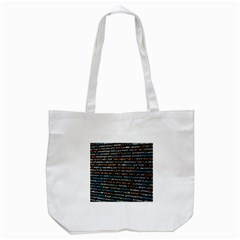 Close Up Code Coding Computer Tote Bag (white)