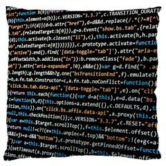 Close Up Code Coding Computer Large Flano Cushion Case (two Sides)