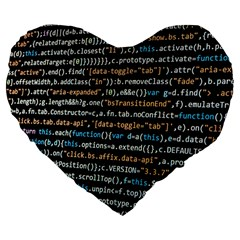 Close Up Code Coding Computer Large 19  Premium Flano Heart Shape Cushions