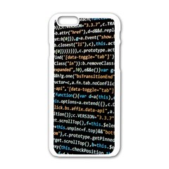 Close Up Code Coding Computer Apple Iphone 6/6s White Enamel Case