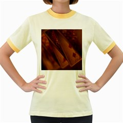 Card Game Mood The Tarot Women s Fitted Ringer T Shirts