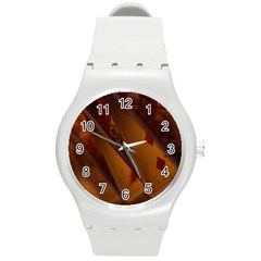 Card Game Mood The Tarot Round Plastic Sport Watch (m)