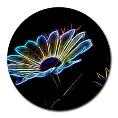 Flower Pattern Design Abstract Background Round Mousepads