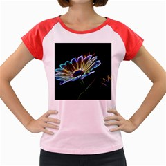 Flower Pattern Design Abstract Background Women s Cap Sleeve T Shirt