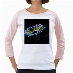 Flower Pattern Design Abstract Background Girly Raglans