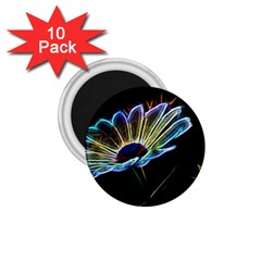 Flower Pattern Design Abstract Background 1 75  Magnets (10 Pack)