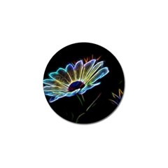 Flower Pattern Design Abstract Background Golf Ball Marker (4 Pack)