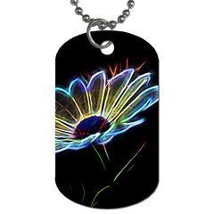 Flower Pattern Design Abstract Background Dog Tag (two Sides)