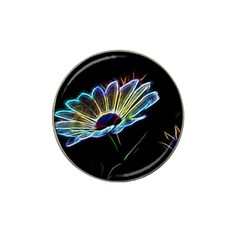 Flower Pattern Design Abstract Background Hat Clip Ball Marker (4 Pack)
