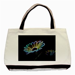 Flower Pattern Design Abstract Background Basic Tote Bag