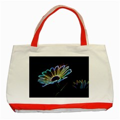 Flower Pattern Design Abstract Background Classic Tote Bag (red)