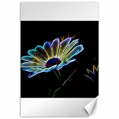 Flower Pattern Design Abstract Background Canvas 12  X 18