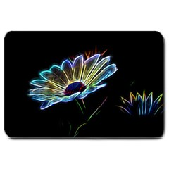 Flower Pattern Design Abstract Background Large Doormat