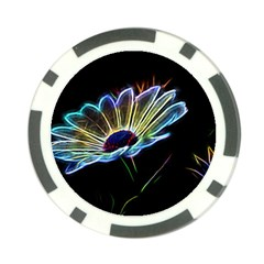 Flower Pattern Design Abstract Background Poker Chip Card Guards (10 Pack)
