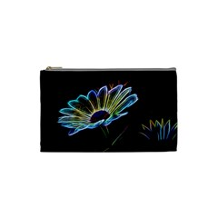 Flower Pattern Design Abstract Background Cosmetic Bag (Small)