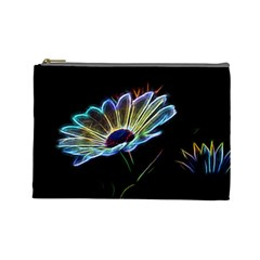 Flower Pattern Design Abstract Background Cosmetic Bag (large)
