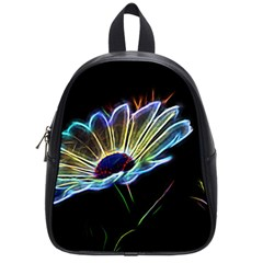 Flower Pattern Design Abstract Background School Bags (small)