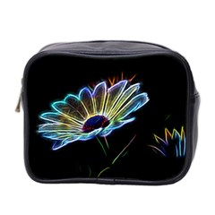 Flower Pattern Design Abstract Background Mini Toiletries Bag 2 Side