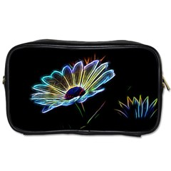 Flower Pattern Design Abstract Background Toiletries Bags 2 Side
