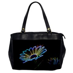 Flower Pattern Design Abstract Background Office Handbags