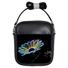Flower Pattern Design Abstract Background Girls Sling Bags