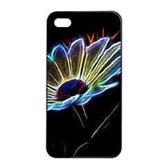 Flower Pattern Design Abstract Background Apple Iphone 4/4s Seamless Case (black)
