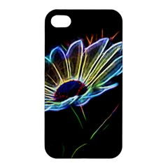 Flower Pattern Design Abstract Background Apple Iphone 4/4s Premium Hardshell Case
