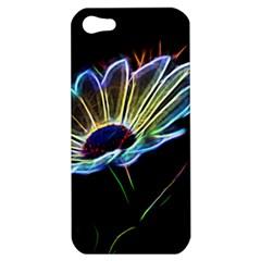 Flower Pattern Design Abstract Background Apple Iphone 5 Hardshell Case