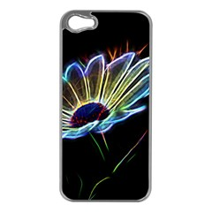 Flower Pattern Design Abstract Background Apple Iphone 5 Case (silver)