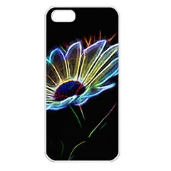 Flower Pattern Design Abstract Background Apple Iphone 5 Seamless Case (white)