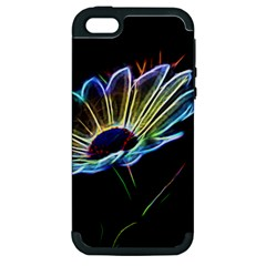 Flower Pattern Design Abstract Background Apple Iphone 5 Hardshell Case (pc+silicone)