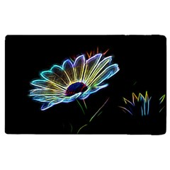 Flower Pattern Design Abstract Background Apple Ipad 2 Flip Case