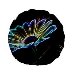 Flower Pattern Design Abstract Background Standard 15  Premium Round Cushions
