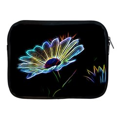Flower Pattern Design Abstract Background Apple iPad 2/3/4 Zipper Cases