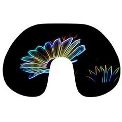 Flower Pattern Design Abstract Background Travel Neck Pillows