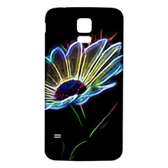 Flower Pattern Design Abstract Background Samsung Galaxy S5 Back Case (white)