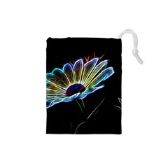 Flower Pattern Design Abstract Background Drawstring Pouches (small)