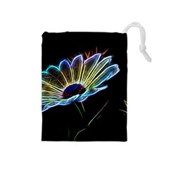 Flower Pattern Design Abstract Background Drawstring Pouches (medium)