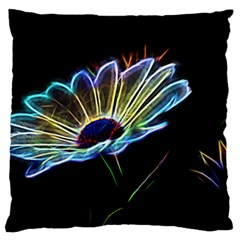 Flower Pattern Design Abstract Background Large Flano Cushion Case (one Side)
