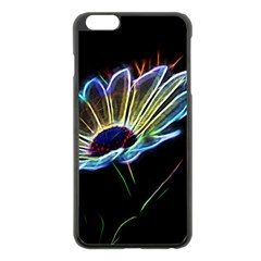 Flower Pattern Design Abstract Background Apple Iphone 6 Plus/6s Plus Black Enamel Case