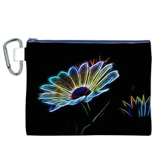 Flower Pattern Design Abstract Background Canvas Cosmetic Bag (xl)