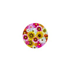 Flowers Blossom Bloom Nature Plant 1  Mini Buttons