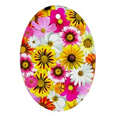 Flowers Blossom Bloom Nature Plant Ornament (oval)