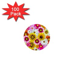 Flowers Blossom Bloom Nature Plant 1  Mini Buttons (100 Pack)