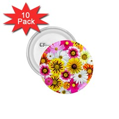 Flowers Blossom Bloom Nature Plant 1 75  Buttons (10 Pack)