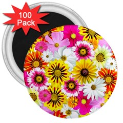 Flowers Blossom Bloom Nature Plant 3  Magnets (100 pack)