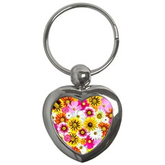 Flowers Blossom Bloom Nature Plant Key Chains (Heart)