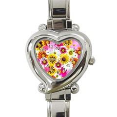 Flowers Blossom Bloom Nature Plant Heart Italian Charm Watch