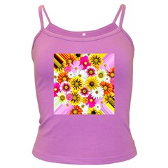 Flowers Blossom Bloom Nature Plant Dark Spaghetti Tank